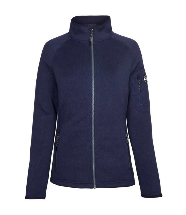 Gill Fleece vest gebreid dames navy