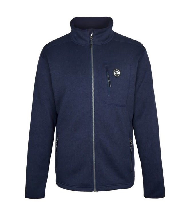 Gill Fleece vest gebreid heren navy