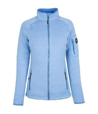 Gill Fleece vest gebreid dames lichtblauw