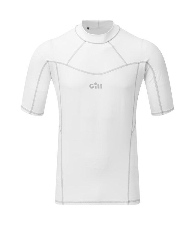 Gill Lycra shirt Pro Rash korte mouw heren wit