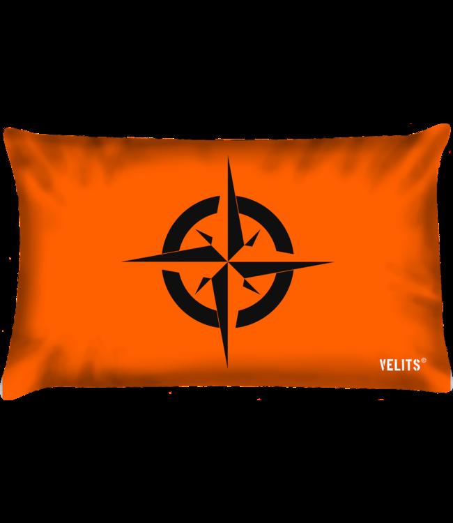 Velits Buitenkussen oranje kompas