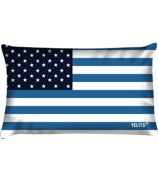 Velits Bootkussen vlag Amerika blauw