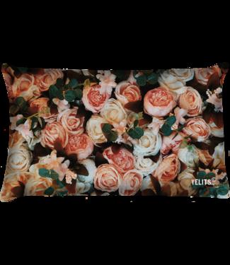 Velits Buitenkussen bouquet of roses