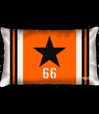 Velits Buitenkussen Star oranje ecru