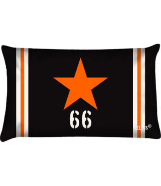 Velits Buitenkussen Orange is New Black Star oranje