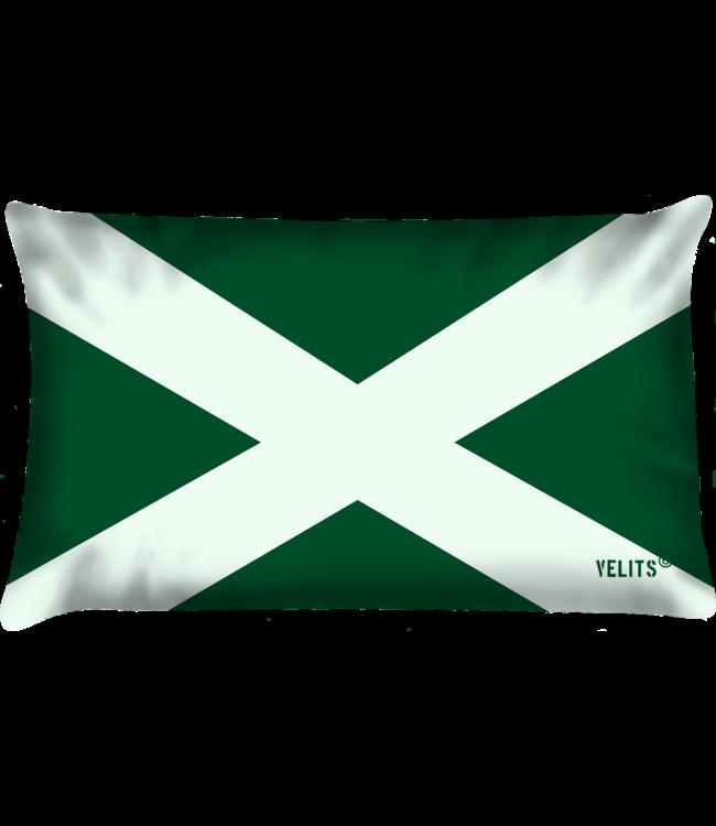 Velits Buitenkussen Groene Vingers Cross