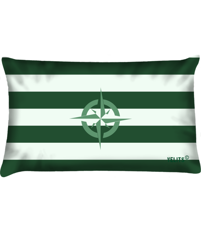 Velits Buitenkussen Groene Vingers Gestreept