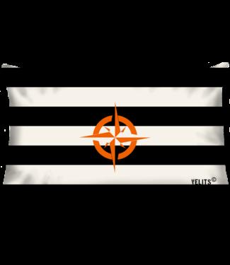 Velits Buitenkussen Orange is New Black Streep kompas oranje