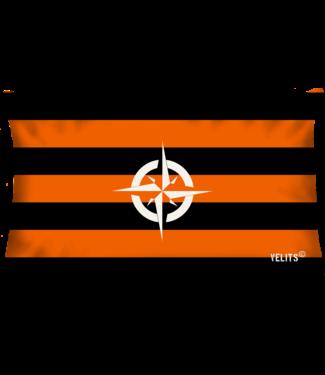 Velits Buitenkussen Orange is New Black streep kompas