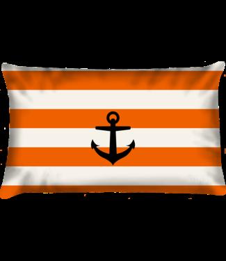 Velits Buitenkussen Orange is New Black gestreept anker