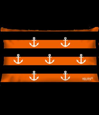 Velits Buitenkussen Orange is New Black gestreept ankers oranje