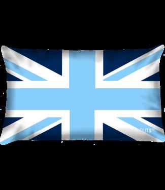Velits Buitenkussen Blauw Bloed Engeland