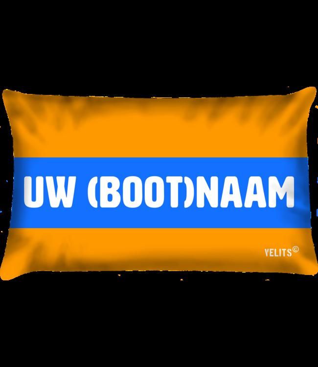 Velits Bootkussen Oranje Blanje Bleu bootnaam