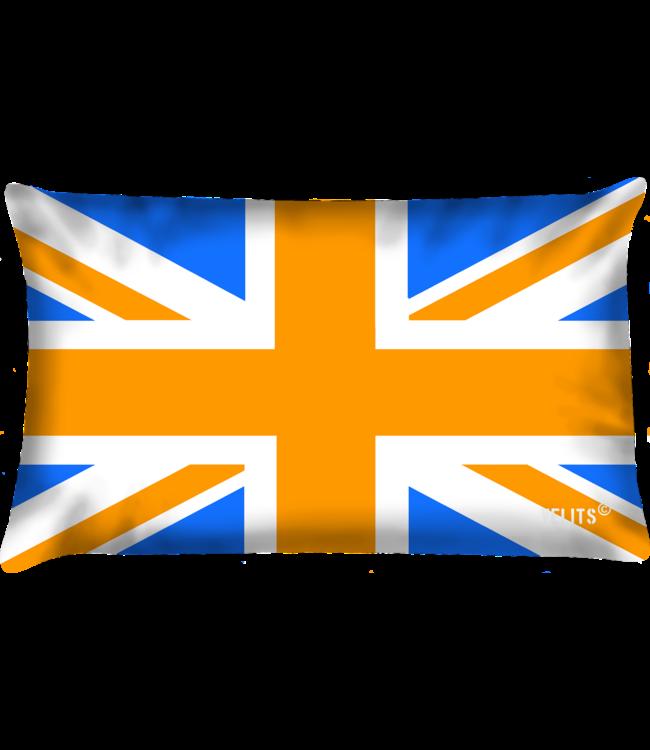 Velits Buitenkussen Oranje Blanje Bleu Engeland