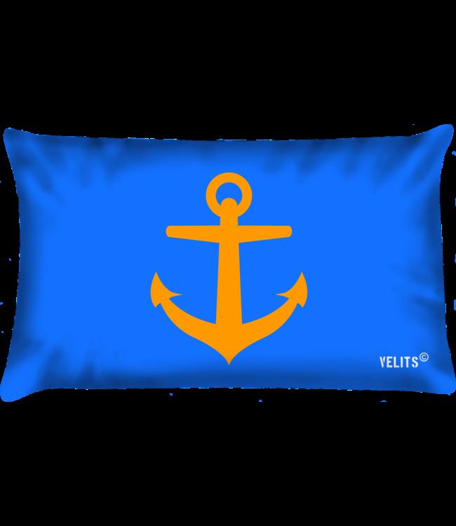 Velits Bootkussen Oranje Blanje Bleu Anker