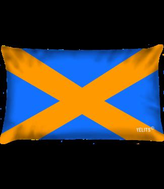 Velits Buitenkussen Oranje Blanje Bleu Cross