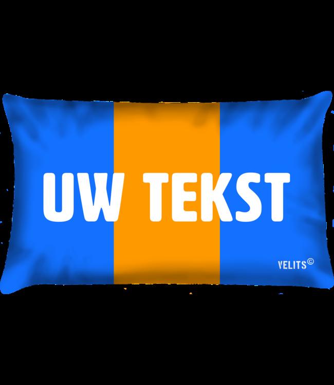 Velits Buitenkussen Oranje Blanje Bleu Enjoy