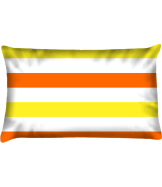 Velits Buitenkussen Summertimes gestreept oranje geel