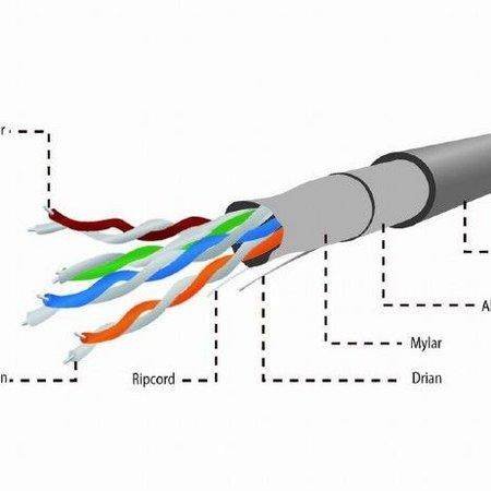 CAT5e FTP LAN-kabel, stug, 100 m