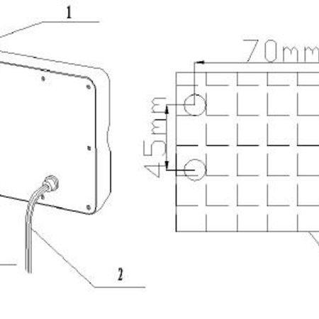 Panel antenna 6 x 6 MIMO 2,4GHz/5GHz op=op