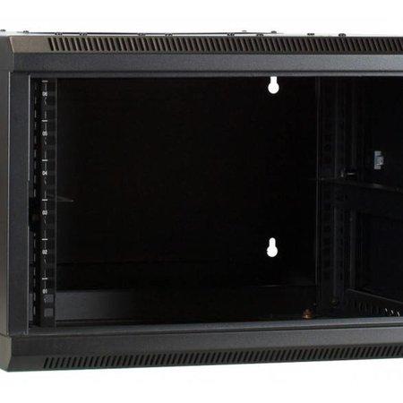 6U Wandkast - kantelbaar- met glazen deur