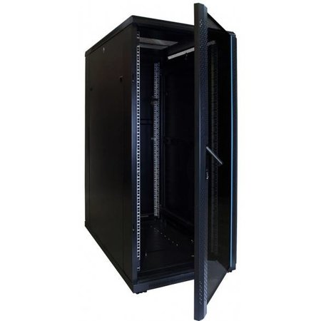 27U Serverkast 1000mm met glazen deur