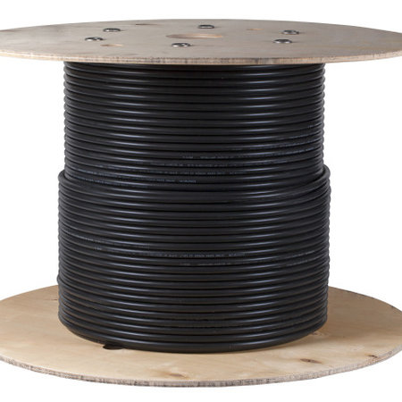S/FTP CAT 7 Installatie kabel, zwart, stug, 100 meter