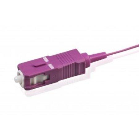 Pigtail Simplex SC OM4 LSZH STB, violett 2mtr, 900um