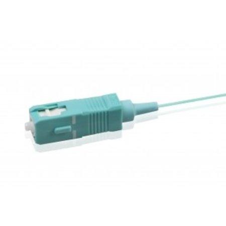 Pigtail Simplex SC OM3 LSZH STB, aqua 2mtr, 900um