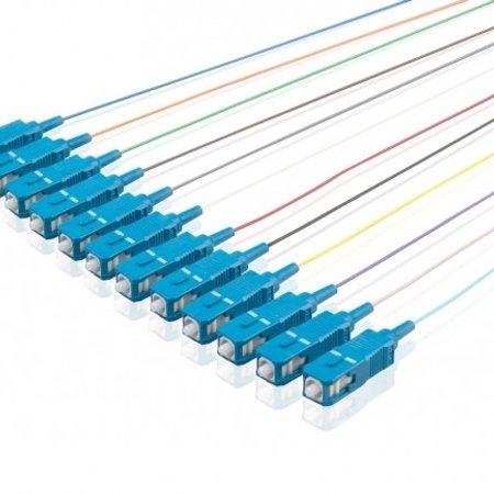 Pigtailset Simplex G652D SC/UPC LSZH STB, 12 kleuren 2mtr