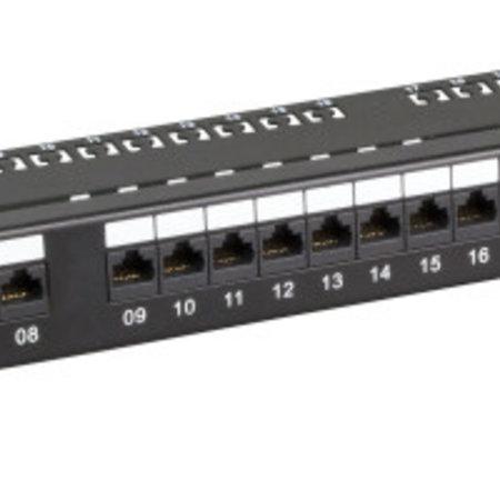 """1U 19"""" patchpaneel UTP 24xRJ45, CAT6, zwart"""
