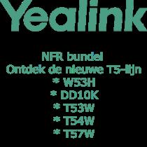 Yealink T5, W53H, DD10K, T53W, T54W, T57W NFR promopakket