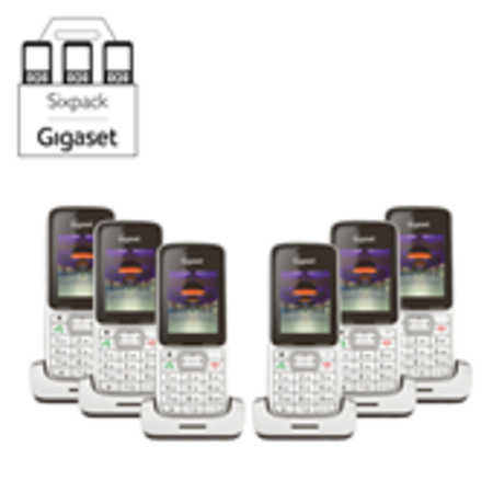 GIGASET Sixpack Gigaset SL450HX,  promo 15 juli t/m 31 augustus 2019