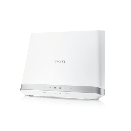 ZyXEL G.fast/VDSL2 profile 35b over POTS Gateway, GbE WAN, 4GbE LAN, 1 USB 3.0, WiFi 11n 2.4GHz 450Mbps , 5GHz 11ac 1.3Gb, EU+UK STD version