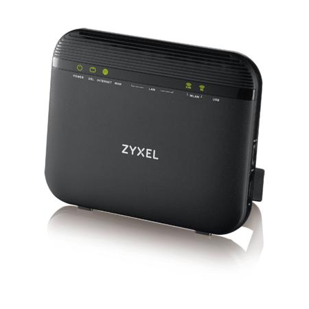 ZyXEL VDSL2 profile 8a/b/c/d, 12a/b, 17a, 30a over POTS Gateway, GbE WAN, 4GbE LAN, 1 USB 2.0, WiFi 11n 2.4GHz 300Mbps, 5GHz 11ac 866Mbps, EU+UK STD version