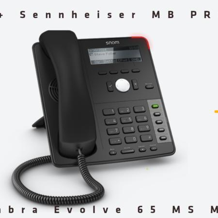 Thuiswerk-kit Snom D715 + Sennheiser MB Pro 2