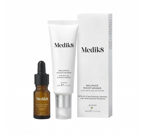 Medik8 Balancing Moisturiser & Glycolic Activator