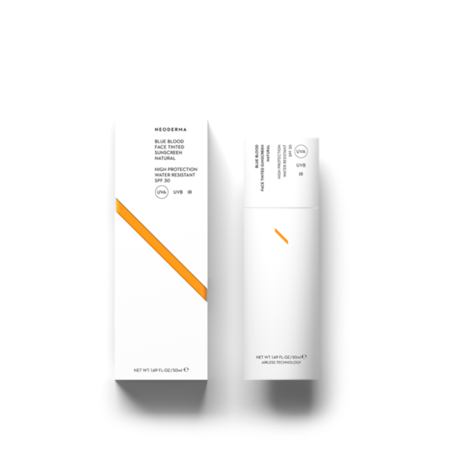 Neoderma Blue Blood Face TINTED Sunscreen SPF30 NATURAL