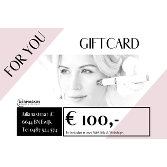 GIFTCARD t.w.v. € 100,-