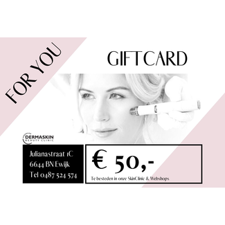 GIFTCARD t.w.v. € 50,-
