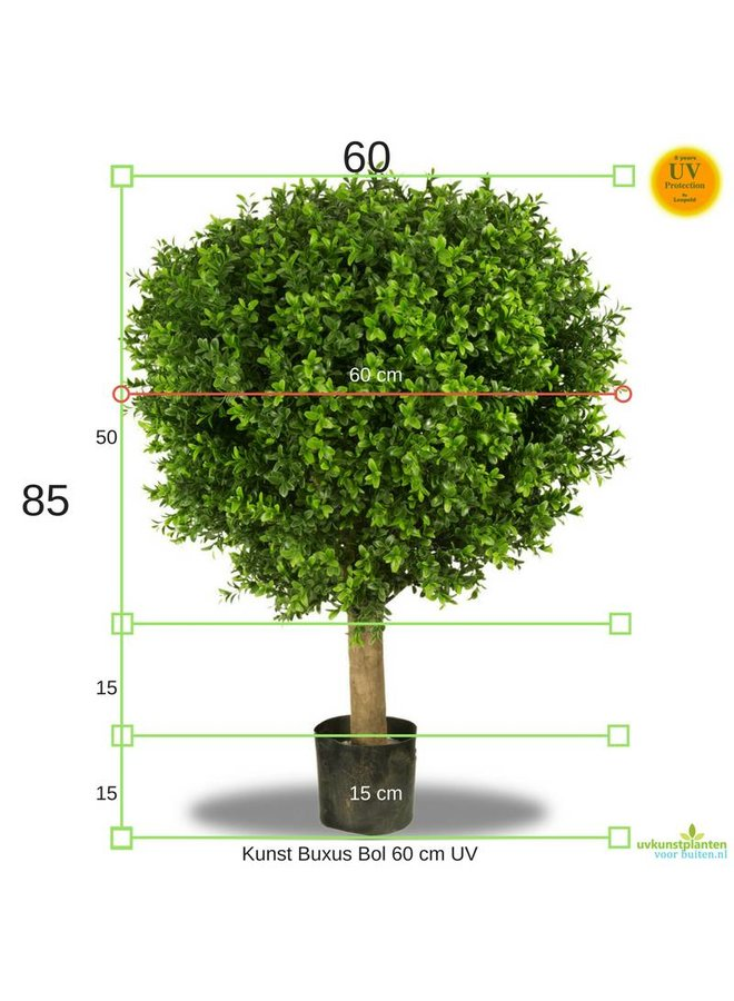 Artificial outdoor Deluxe Boxwood Ball 60 cm UV protected