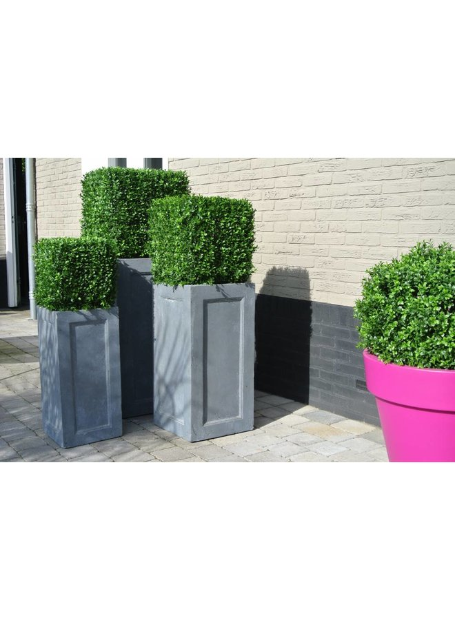 Artificial outdoor Boxwood square 50 cm UV protection