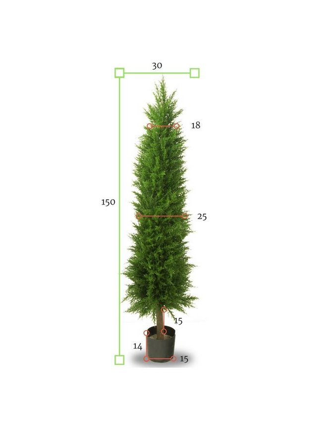 Artificial Conifer tree 150 cm UV protected for outside