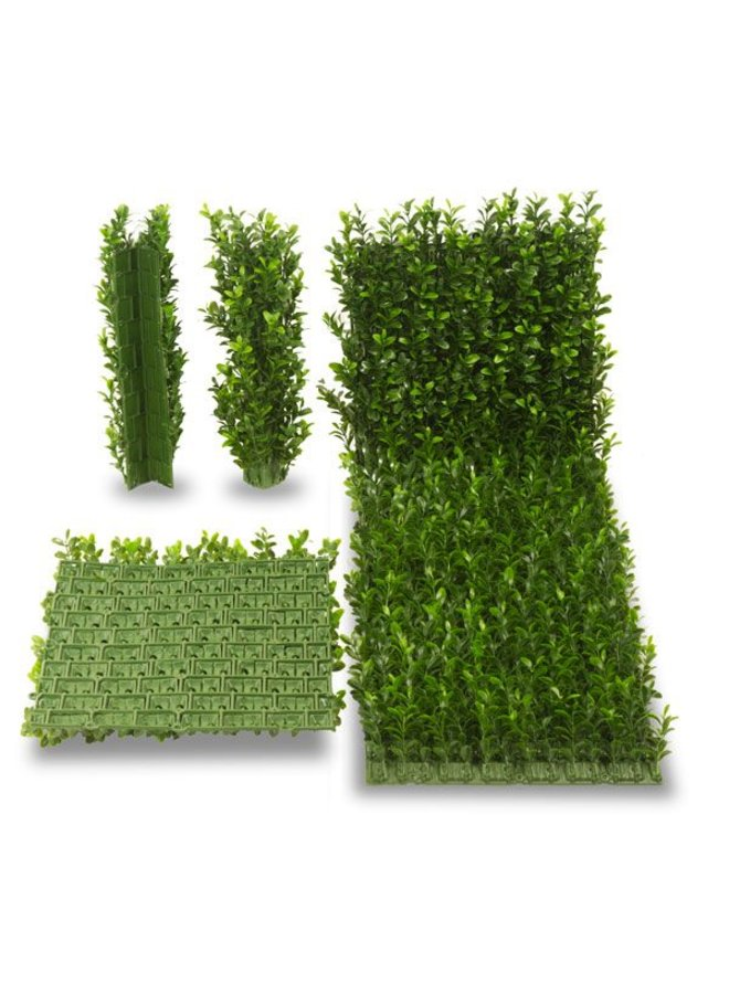 Outdoor artificial Boxwood corner x45 tips for fixing on 140  mat  UV protected
