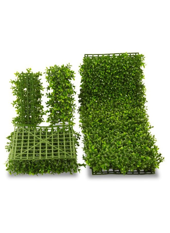 Outdoor artificial Boxwood corner x100 tips for fixing on 140 mat  UV protected