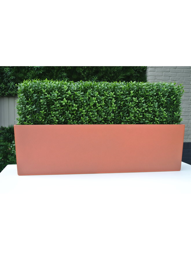 Outdoor low artificial boxwood hedge 35x80 cm UV