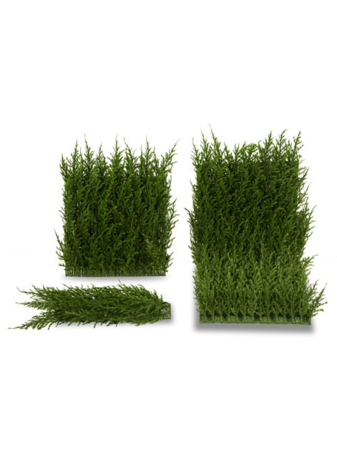 Outdoor artificial Conifer corner mat for fixing on Conifer mats UV protected