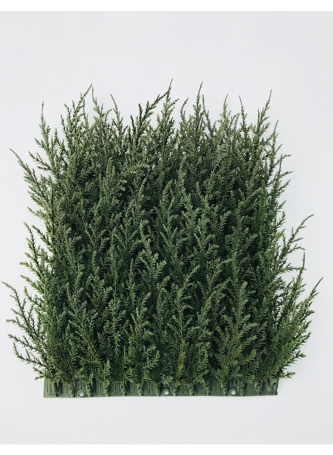 Luxury outdoor artificial Conifer mat  x77 tips for wall covering UV protected