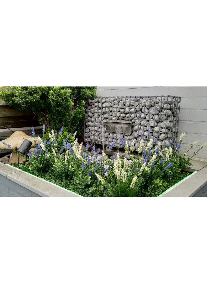 Artificial white Lavender bush uv-protected for Outdoor