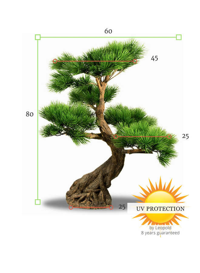 Artificial outdoor Bonsai Pinus tree 80 cm with 5 levels UV protected